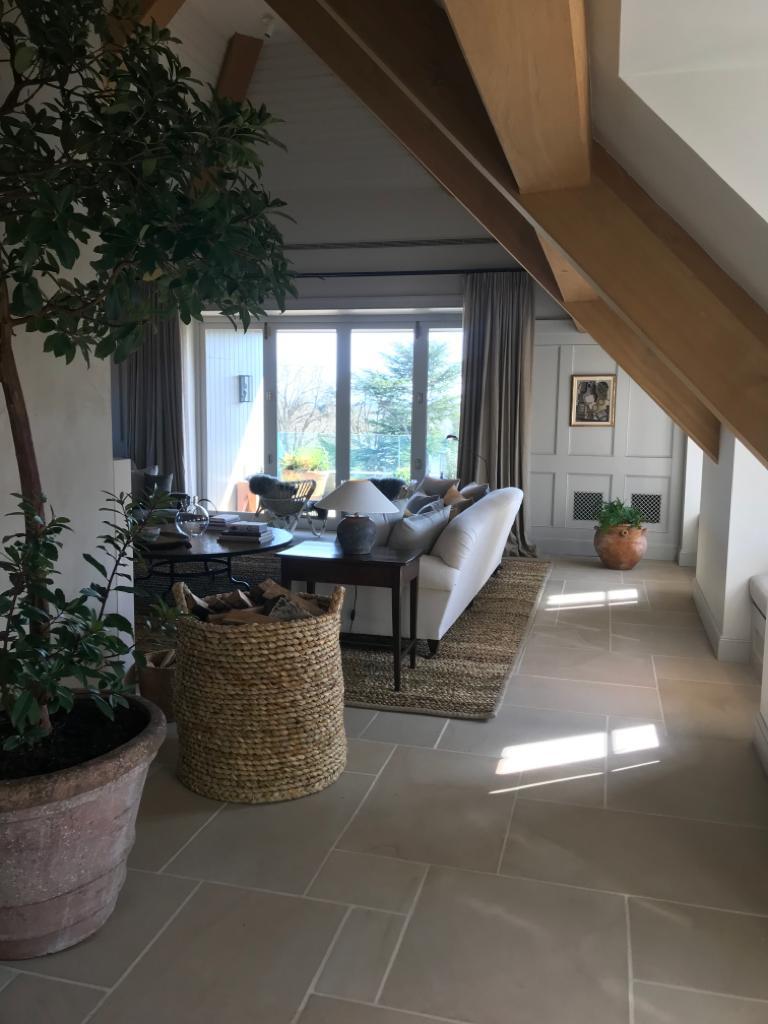 image of yorkstone paving inside a home. https://stoneuk.com